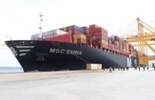 Hindistan-Avrupa servisinin ilk gemisi