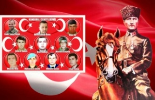 İlçe Jandarma Komutanlığı, Kandıra'nın şehitlerini...