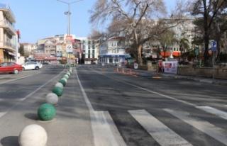 Trakya'da Kovid-19 tedbirleri kapsamındaki sokağa...