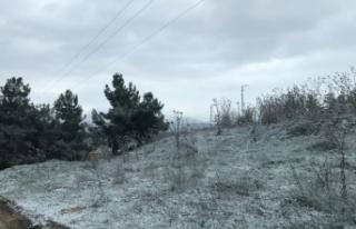 Bilecik'te nisan ayında kar yağdı
