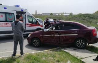Çerkezköy'de trafik kazası: 1 yaralı