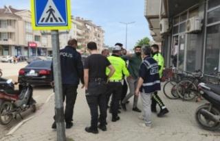 Bursa'da polisin dur ihtarına uymayan motosiklet...