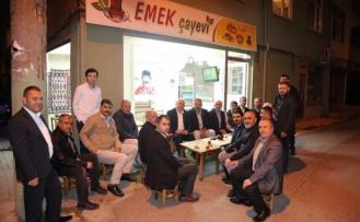 Bıyık, çay sohbetlerinde vatandaşlarla buluştu