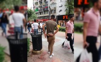 Yürüyüş yolunda izinsiz broşür dağıtımına ceza