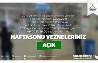 Darıca'da Vezneler hafta sonu açık