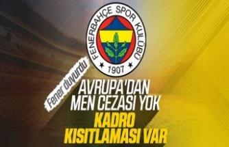 Fenerbahçe: Men cezası yok