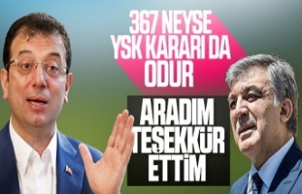 İmamoğlu'dan,  Abdullah Gül'e teşekkür