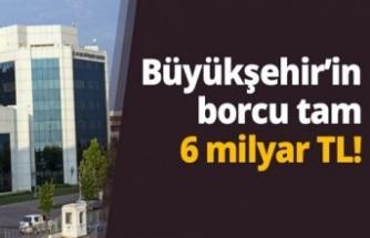 Kocaeli Büyükşehir'in borcu belli oldu