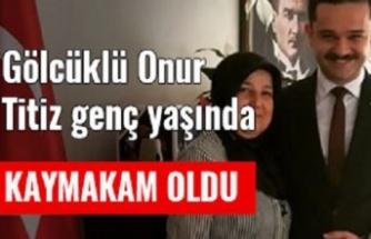 Gölcüklü Onur, 30 yaşında Kayseri'ye Kaymakam oldu