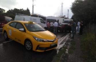 GOSB- Mutlukent kavşağında zincirleme kaza