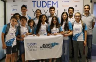 Tudem Yayın Grubu triatlon sporunun genç yeteneklerini ağırladı