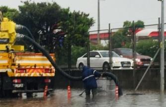 Büyükşehir ekipleri yağış boyunca teyakkuzdaydı