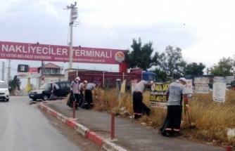 Nakliyeciler Terminali temizleniyor