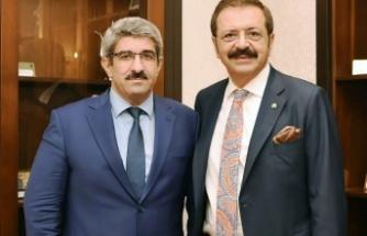 Necmi Bulut, Hisarcıklıoğlu ile TÜPRAŞ'ı görüştü