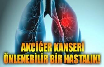 Akciğer kanseri önlenebilir bir hastalıktır