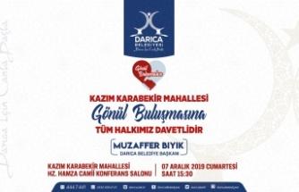 Gönül buluşmalarının beşincisi Kazım Karabekir Mahallesi'nde