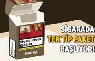 Sigarada tek tip paket dönemi başlıyor