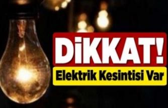 4 ilçede elektrik kesintisi