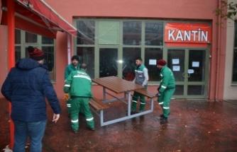 Başkan Hürriyet'in 'eli' Arslanbey Kampüsü'ne de değdi