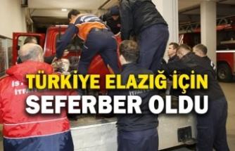 Türkiye Elazığ için seferber oldu