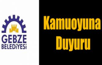 Gebze Belediyesinin etkinlikleri iptal edildi