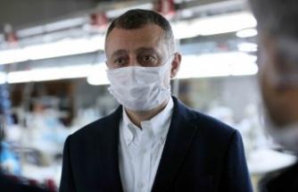 Başkan Büyükakın, ''Maske üretiminde kapasiteyi artırıyoruz''