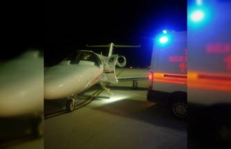 Ambulans uçak 2 yaşındaki bebek için havalandı