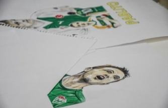 Avukat katibi kara kalem çizimleriyle genç sporculara destek olmayı hedefliyor