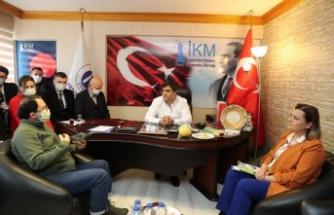 Başkan Hürriyet İKM'yi İzmit Çarşısı projesi ile ilgili bilgilendirdi