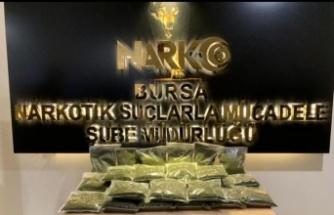 Bursa'da 13 kilogram sentetik uyuşturucuyla yakalanan şüpheli tutuklandı