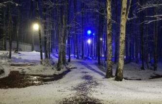 Eriklitepe'de Kar yağışı başladı