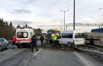 GÜNCELLEME - Anadolu Otoyolu'nda iki kişinin yaralandığı zincirleme trafik kazası ulaşımı aksattı