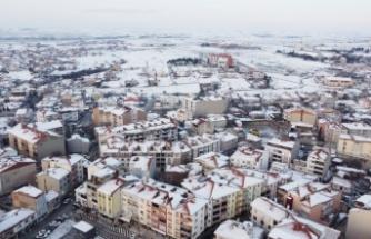 Hayrabolu'da kar yağışı etkisini yitirdi