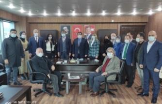 İYİ Partiden, Gelecek Partisine Geçmiş olsun ziyareti