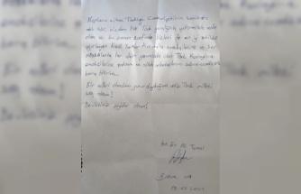 Karantinası sona eren askerin yurt görevlilerine minnettarlığı mektubundaki satırlara yansıdı
