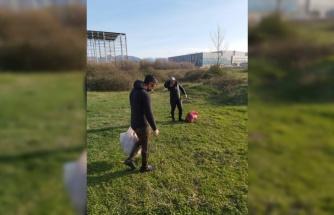 Kocaeli'de yasak bölgede balık ve midye avlayan 10 kişi yakalandı