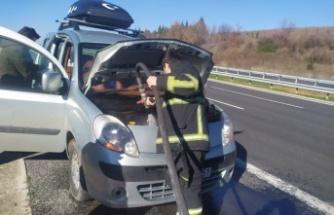 Lüleburgaz'da otomobil yangını