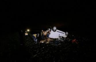 Lüleburgaz'da şarampole devrilen otomobilin sürücüsü yaralandı