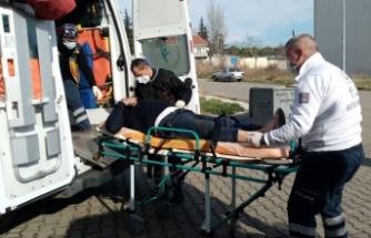 Ayağına römork demiri düşen işçi yaralandı