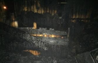 Sakarya'da barakada yalnız yaşayan kişi yangında öldü