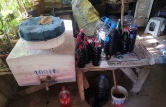 1150 litre sahte içki ele geçirildi: 1 gözaltı