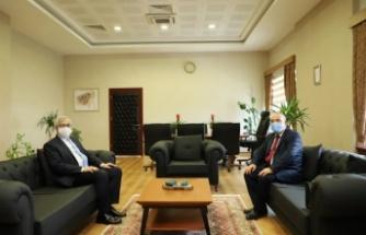 Kırklareli Adalet Komisyonu Başkanı Yeltepe, KLÜ Rektörü Şengörür'ü ziyaret etti