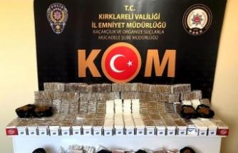 Kaçak sigara operasyonunda 38 kilogram tütün ele geçirildi