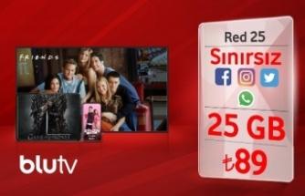 Vodafone Red'den 12 ay ücretsiz BluTV üyeliği hediyesi