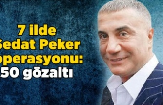7 ilde Sedat Peker operasyonu: 50 gözaltı