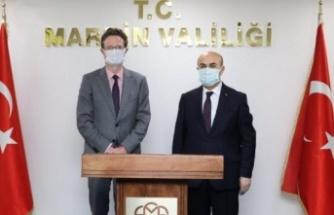 AB Türkiye Başkanı Mardin Valisi'ni ziyaret etti