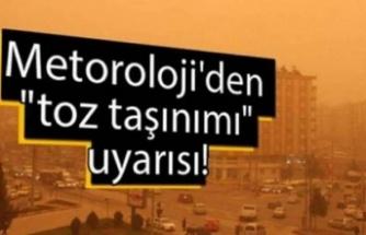 Bursa'da pazar akşamına kadar toz taşınımı bekleniyor