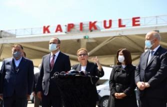 Ticaret Bakanı Pekcan Kapıkule Sınır Kapısı'nda basın toplantısı düzenledi:
