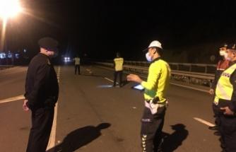 Bilecik İl Jandarma Komutanı Albay Muzaffer Sandal yol uygulama ve kontrol noktasını denetledi