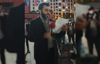 İsrail'in Mescid-i Aksa'ya yönelik saldırıları İstanbul'da protesto edildi